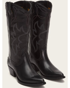 cc0f557d7d08 Frye Women s Black Shane Embroidered Tall Boots - Pointed Toe
