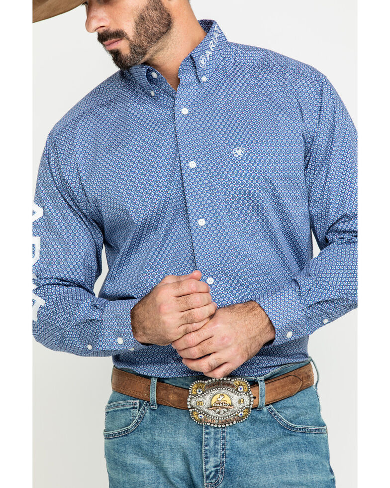 Ariat Men's Trevor Logo Geo Print Long Sleeve Western Shirt - Big , Multi, hi-res