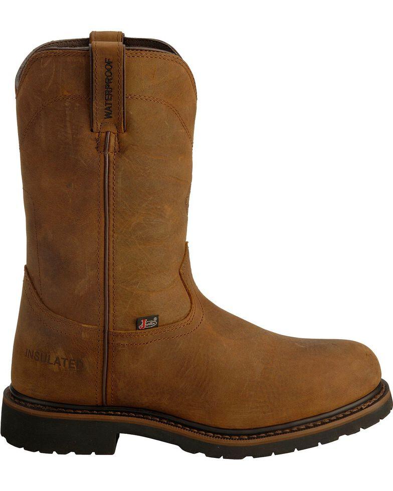 Justin Men's Wyoming Insulated Waterproof Work Boots, Brown, hi-res