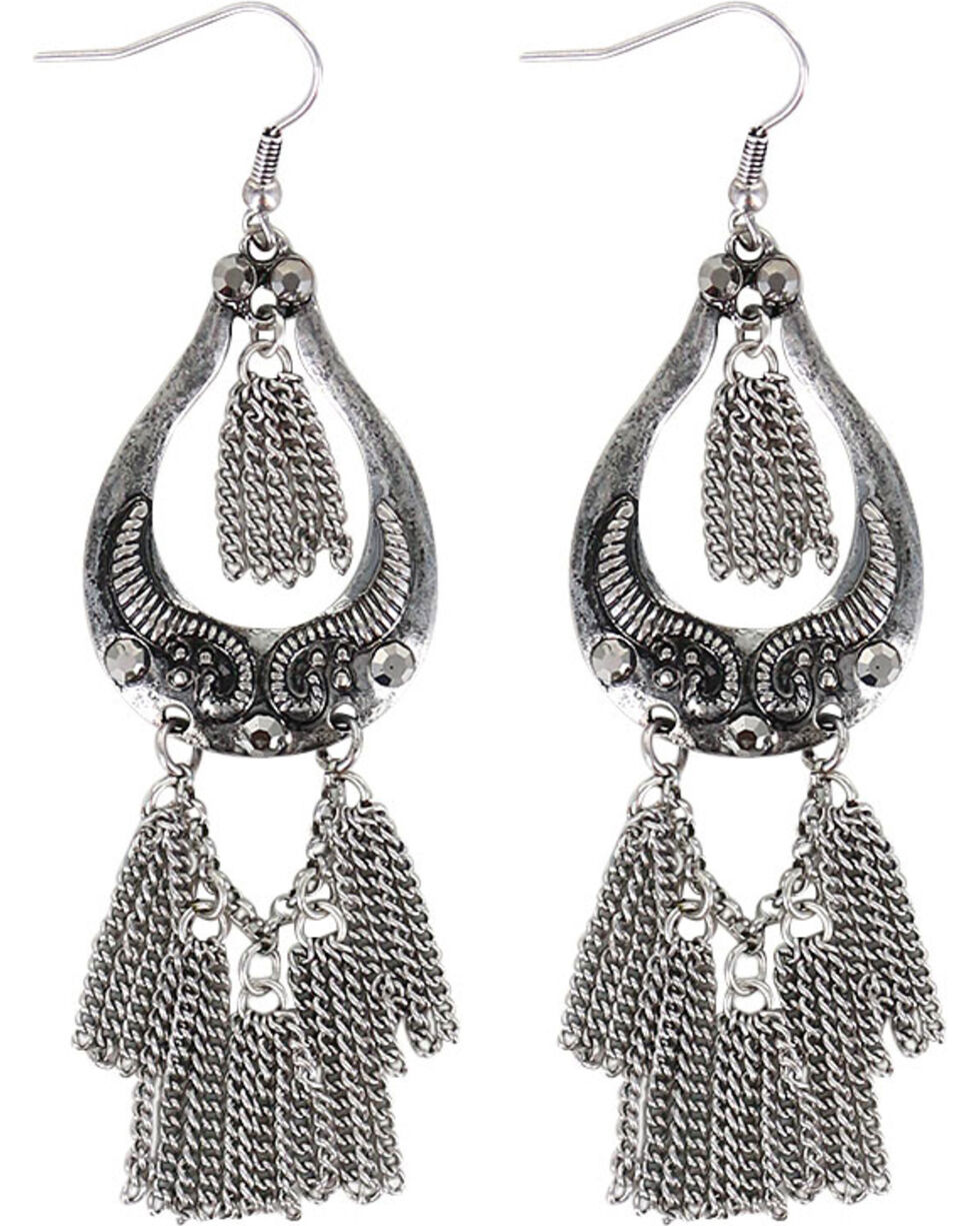 Shyanne® Women's Dangle Chain Earrings , Silver, hi-res