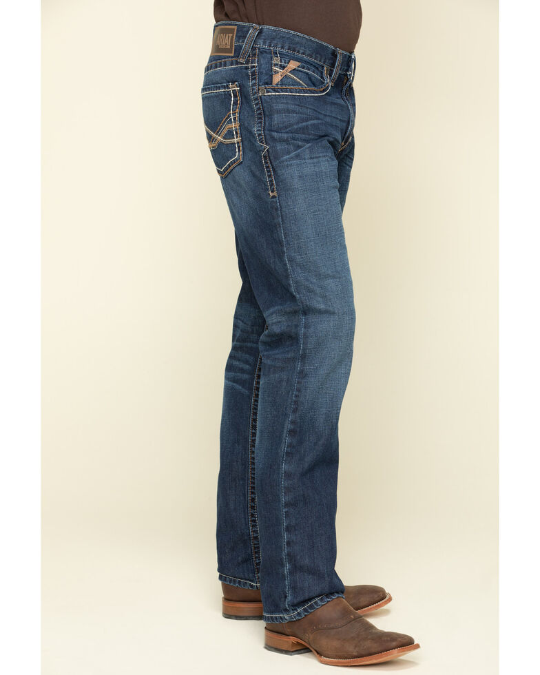 Ariat Men's M2 Prescott Stackable Relaxed Bootcut Jeans , Blue, hi-res