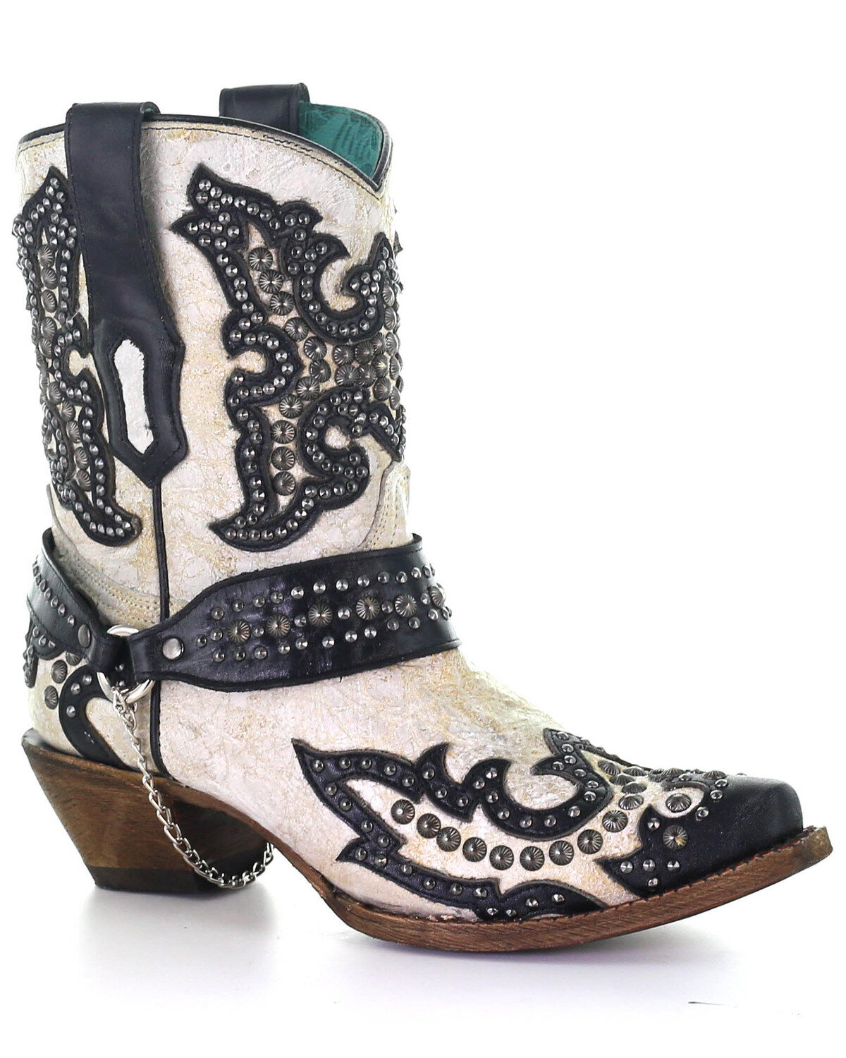 Sizes 5-12 B Corral Womens 13-inch White//Green Glitter Inlay /& Crystals Pull-On Cowboy Boots US, Bone 10.5 B M