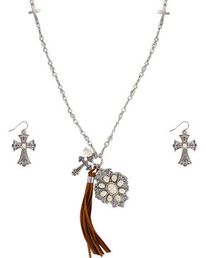 Shyanne® Women's Faith Jewelry Set, Silver, hi-res