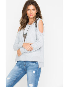 655a6514081fd1 Shyanne Women s Sequin Cold Shoulder Sweater