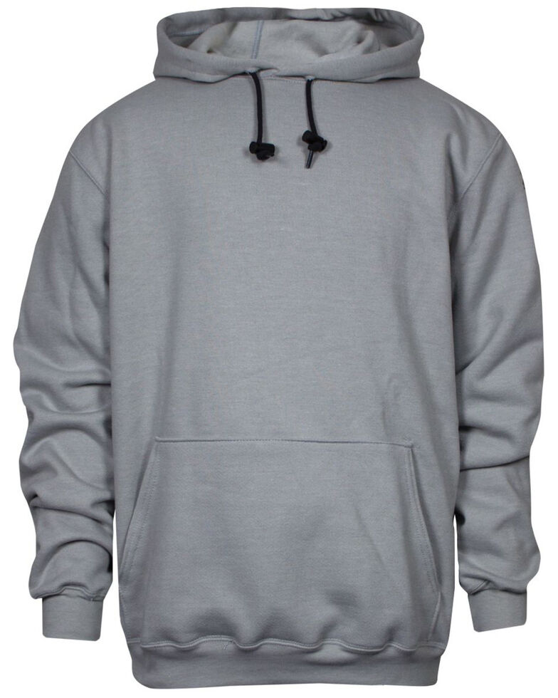 National Safety Apparel Men's 2X-3X Grey FR Heavyweight Hooded Work Sweatshirt - Tall, Grey, hi-res