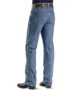 Wrangler 47MWZ Premium Performance Cowboy Cut Regular Fit Prewashed Jeans, Stonewash, hi-res