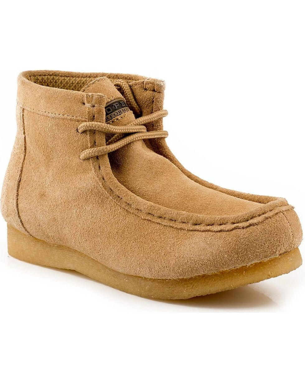 Roper Kid's Casual Moc Toe Chukkas, Tan, hi-res