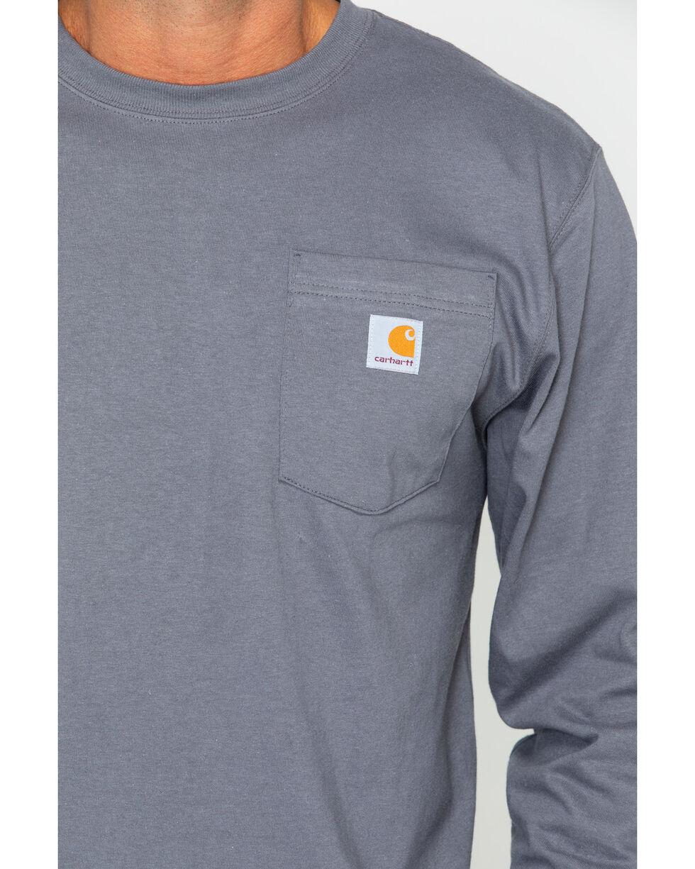 Carhartt Men's Long Sleeve Work T-Shirt, Charcoal Grey, hi-res