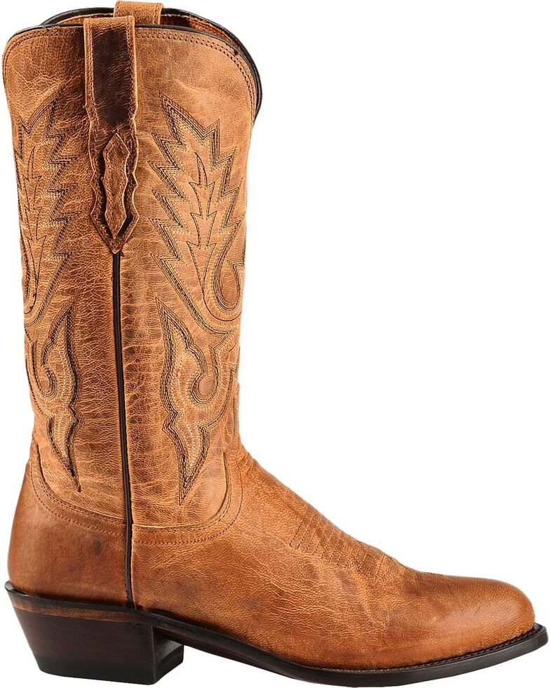 23084e99704 Lucchese Men's Lewis Roper Toe Mandras Goat Western Boots
