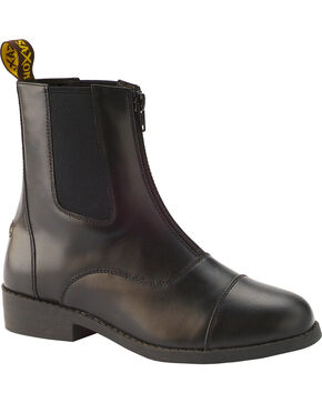 Saxon Women's Equileather Zip-Front Boots, Brown, hi-res