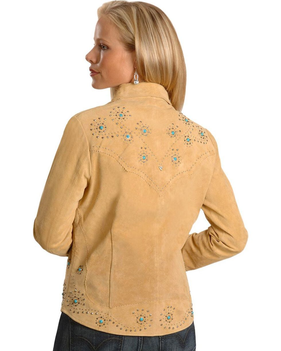 Scully Women's Boar Suede Long Sleeve Western Shirt, Tan, hi-res