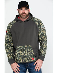 Ariat Men's FR Durastretch Camo Patriot Hoodie Work Sweatshirt - Big , Camouflage, hi-res