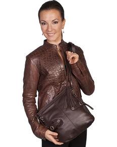 Scully Brown Leather Shoulder Bag, Brown, hi-res