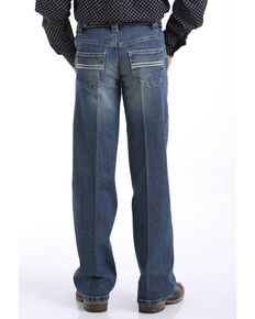 Cinch Boys' Carter Medium Stone Regular Bootcut Jeans , Indigo, hi-res