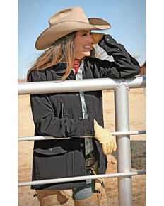STS Ranchwear Women's Brazos Softshell Black Barn Jacket - Plus, Black, hi-res