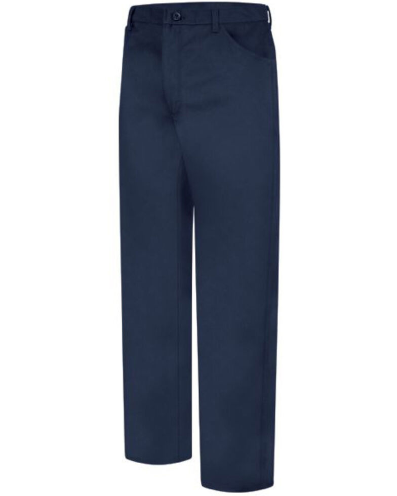 Red Kap Men's Navy Excel FR Jean-Style Work Pants , Navy, hi-res