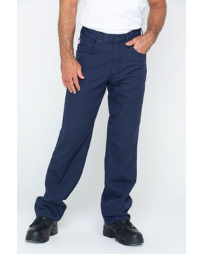Carhartt Flame Resistant  Canvas Work Pants, Navy, hi-res