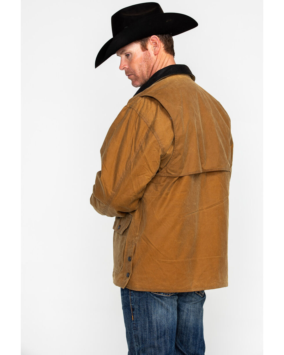 Outback Trading Men's Gidley Oilskin Jacket, Tan, hi-res
