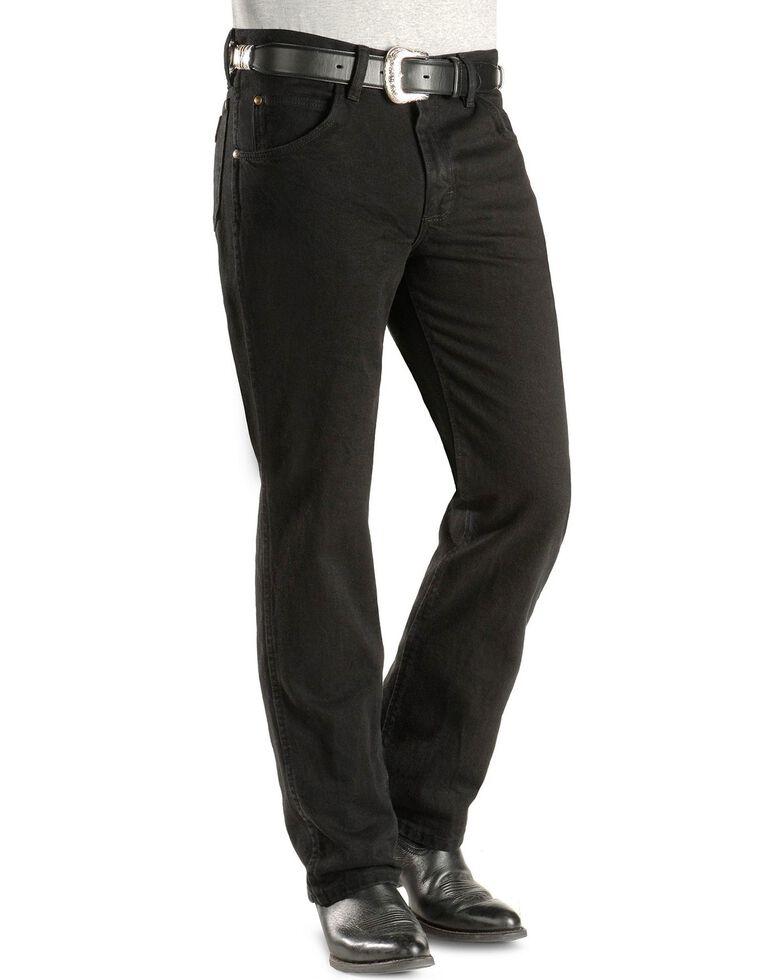 dd030834 Zoomed Image Wrangler Jeans - Cowboy Cut 36 MWZ Slim Fit Black, Black,  hi-res