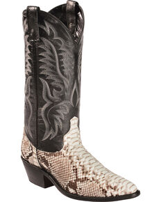 Laredo Men's Exotic Snake Western Boots, Natural, hi-res