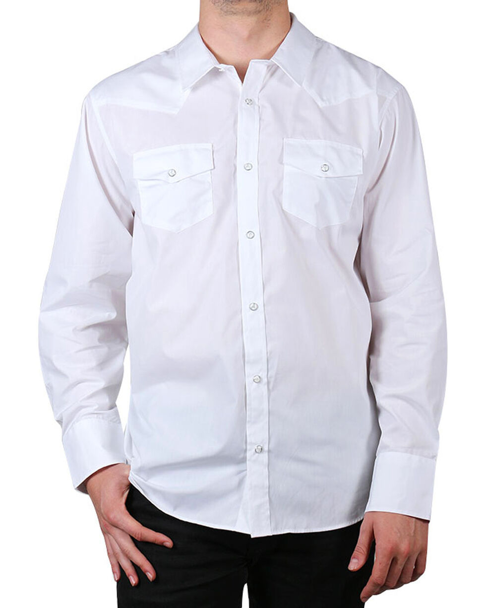 Gibson Trading Co. Men's White Water Long Sleeve Shirt - Big  , White, hi-res