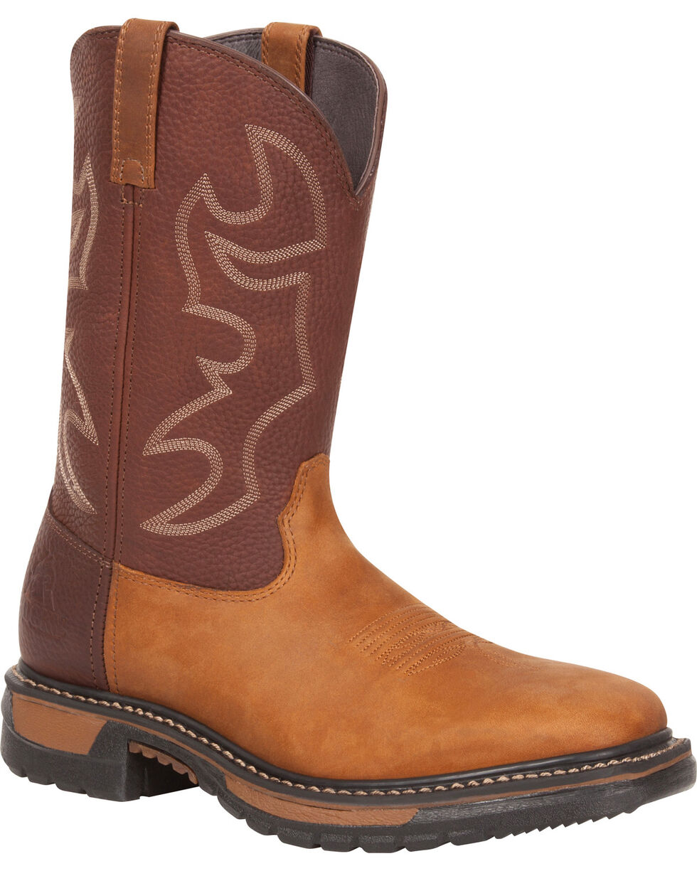 Rocky Original Ride Western Boots - Square Toe, Brown, hi-res