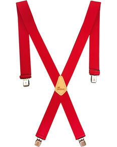 "Berne Men's 2"" Industrial Suspenders , Red, hi-res"
