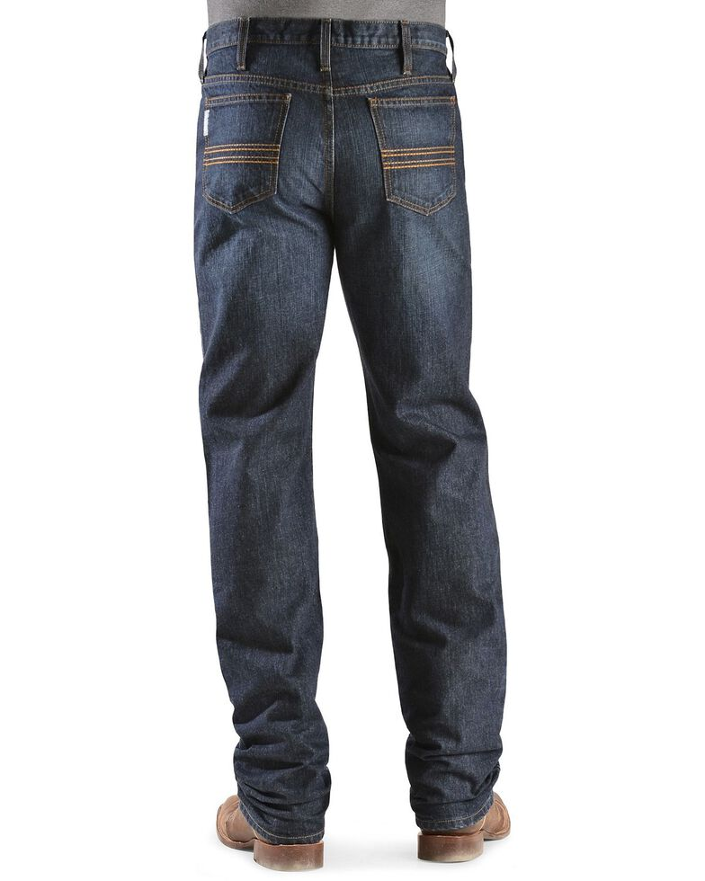 Cinch Men's Silver Label Dark Wash Slim Straight Jeans, Dark Stone, hi-res