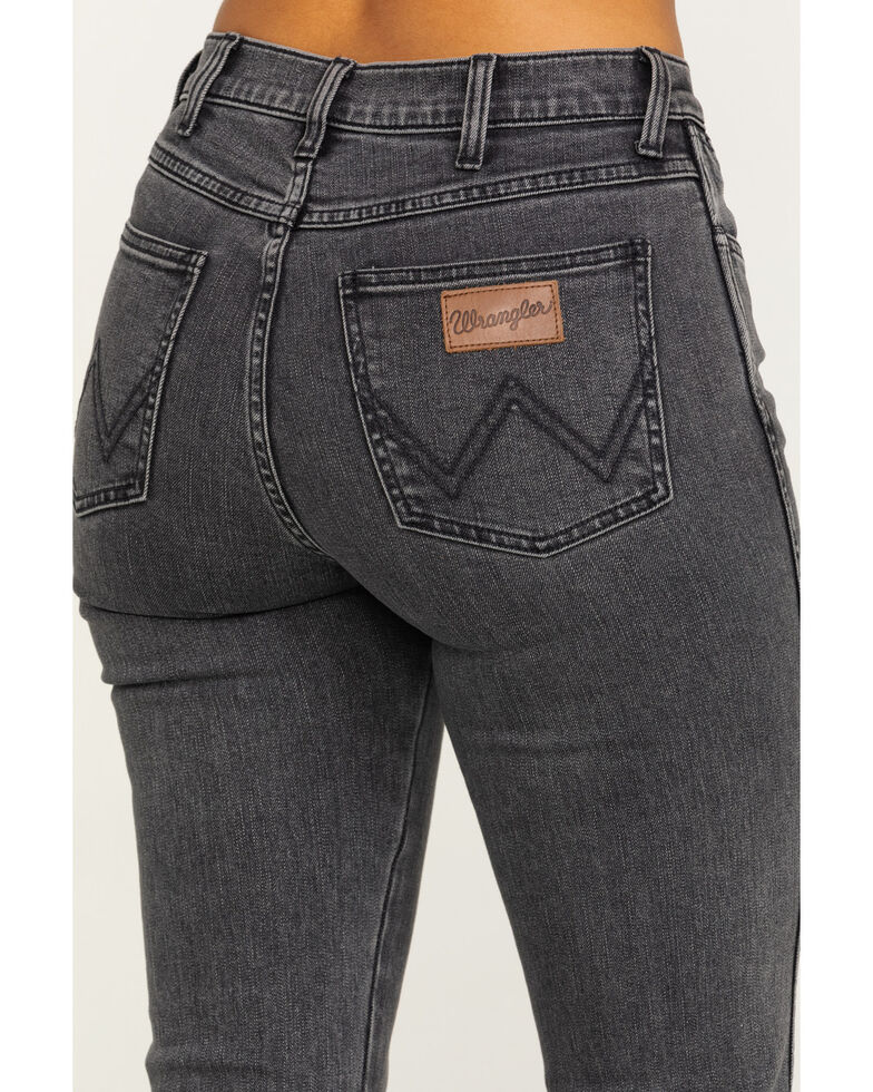 Wrangler Modern Women's Crow Exaggerated Bootcut Jeans, Black, hi-res