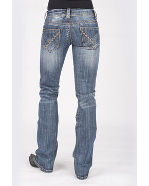 Stetson Women's 818 Contemporary Bootcut Jeans, Denim, hi-res