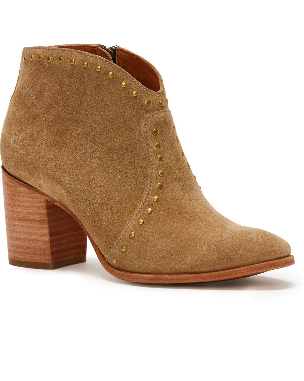 Frye Women's Sand Nora Stud Sip Short Boots - Pointed Toe , Sand, hi-res