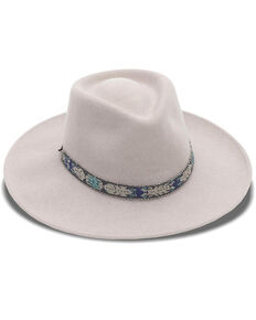Nikki Beach Women's Mink Wynter Western Felt Rancher Hat , Brown, hi-res