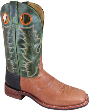 Smoky Mountain Men's Ryan Western Boots - Square Toe , Tan, hi-res