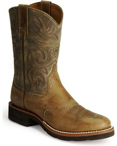 Ariat Men's Heritage Crepe Western Boots, Earth, hi-res