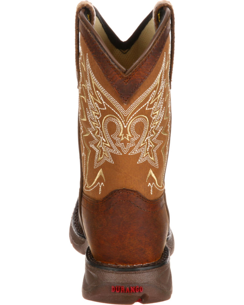 Lil' Durango Boys' Let Love Fly Western Boots - Square Toe, Brown, hi-res