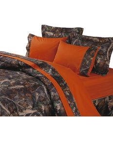 HiEnd Accents Orange & Oak Camo Sheet Set, Multi, hi-res