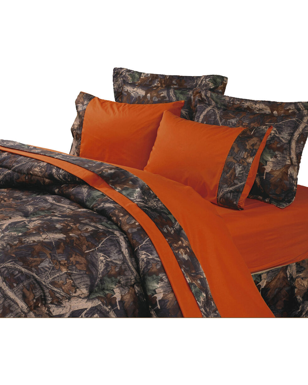 HiEnd Accents Orange & Oak Camo Sheet Set, Multi, hi-res