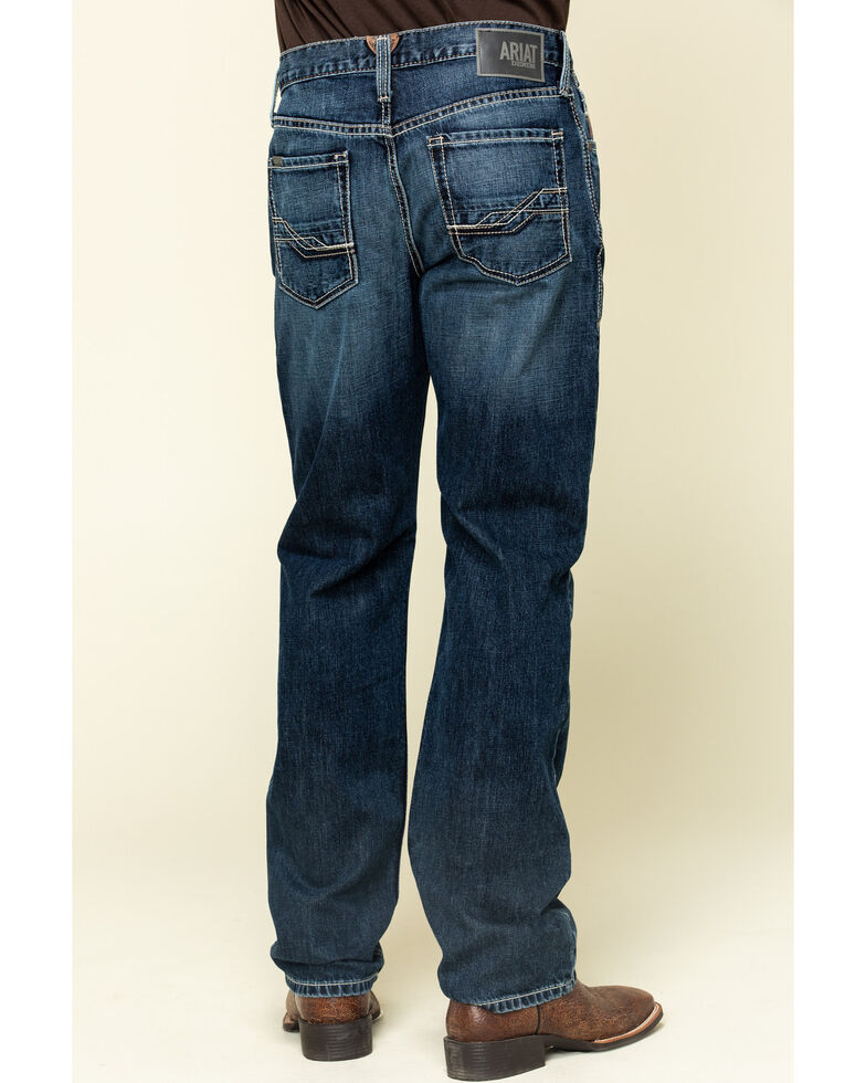 Ariat Men's M3 Bradford Dark Stackable Loose Straight Jeans - Big , Blue, hi-res