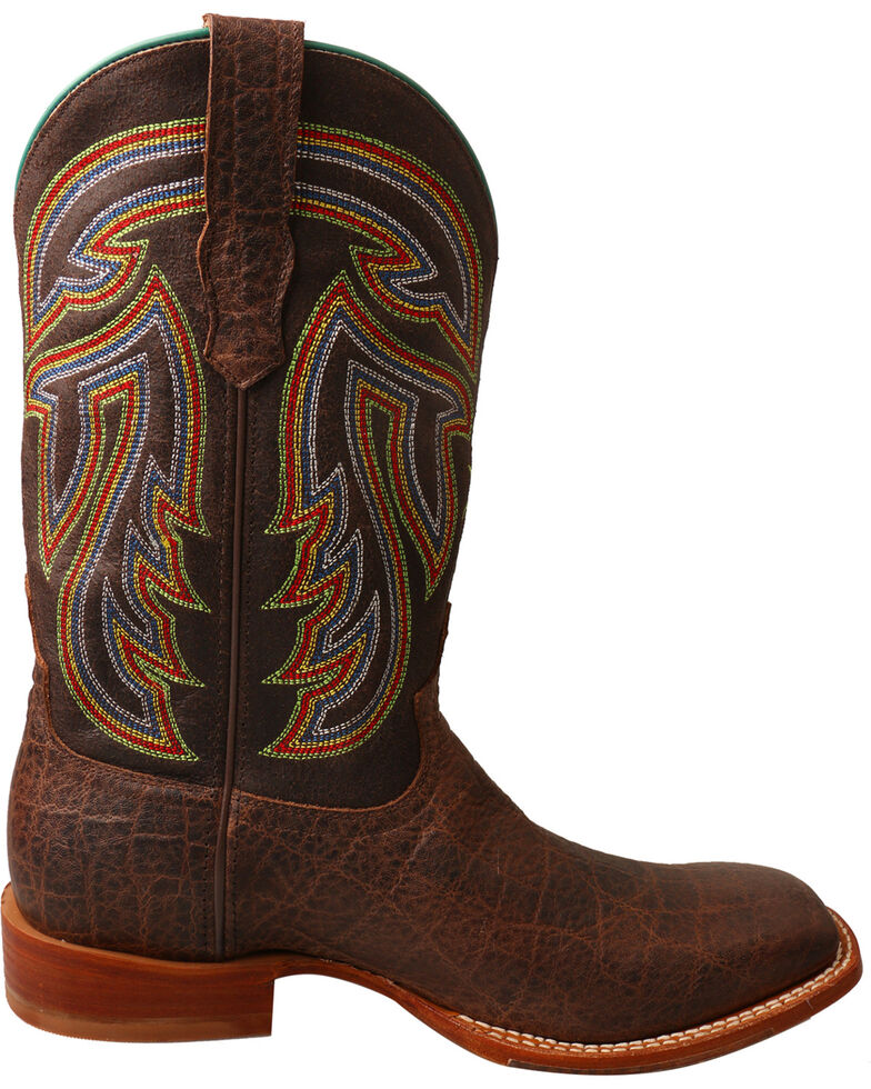3073e893081 Twisted X Men's Chocolate Rancher Elephant Print Boots - Square Toe