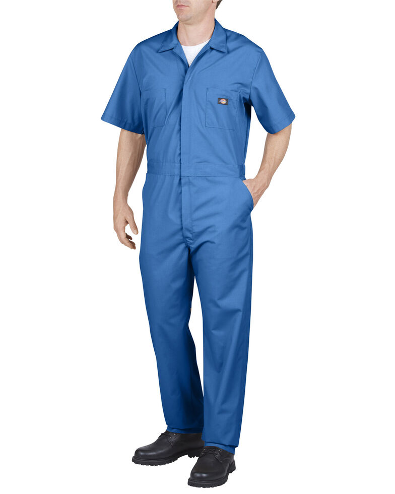 Dickies Short Sleeve Work Coveralls - Big & Tall, Med Blue, hi-res