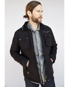Kimes Ranch Men's Black Monitor Quilted Shirt Jacket, Black, hi-res
