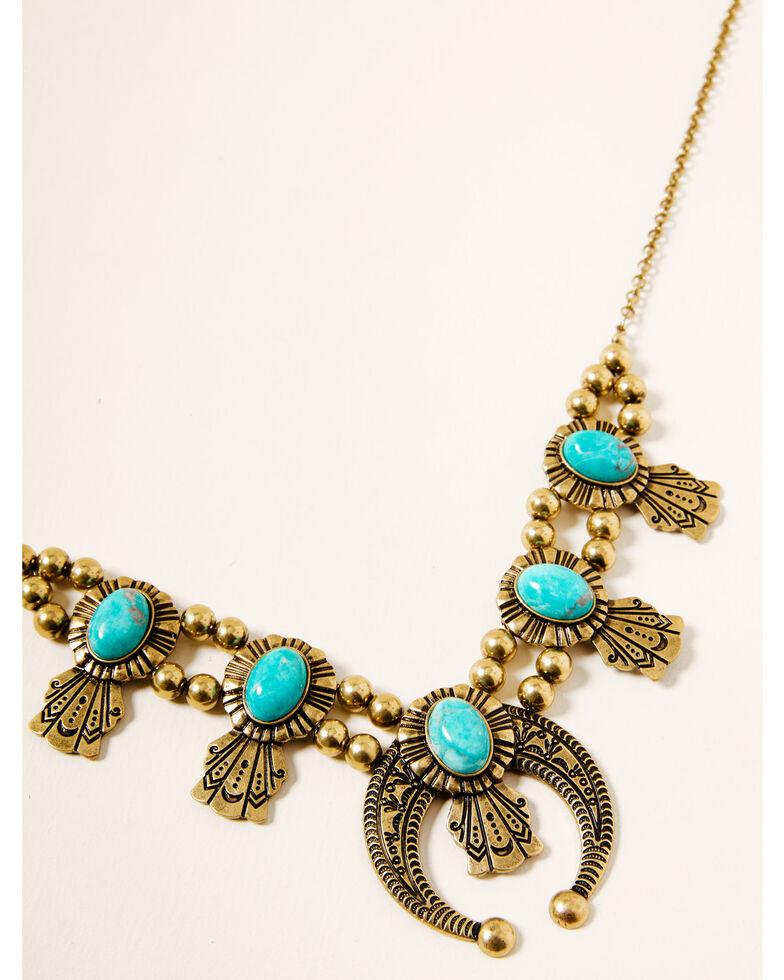 Shyanne Women's Winslow Squash Blossom Necklace, Gold, hi-res