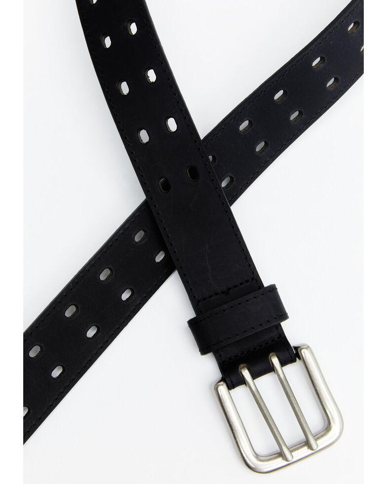 Hawx Men's Double Perforated Work Belt, Black, hi-res