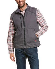 Ariat Men's FR Duralight Stretch Canvas Work Vest, Grey, hi-res