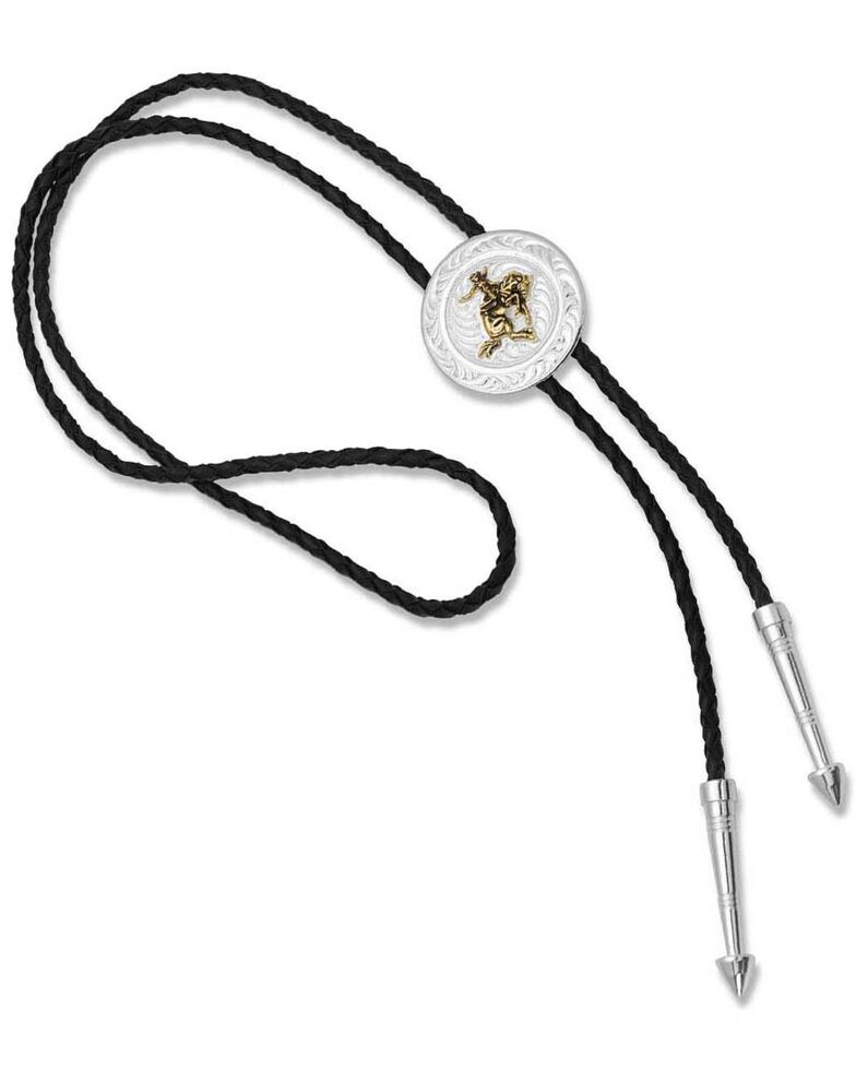Montana Silversmiths Women's Art Of The Cowgirl Bolo Tie, Silver, hi-res