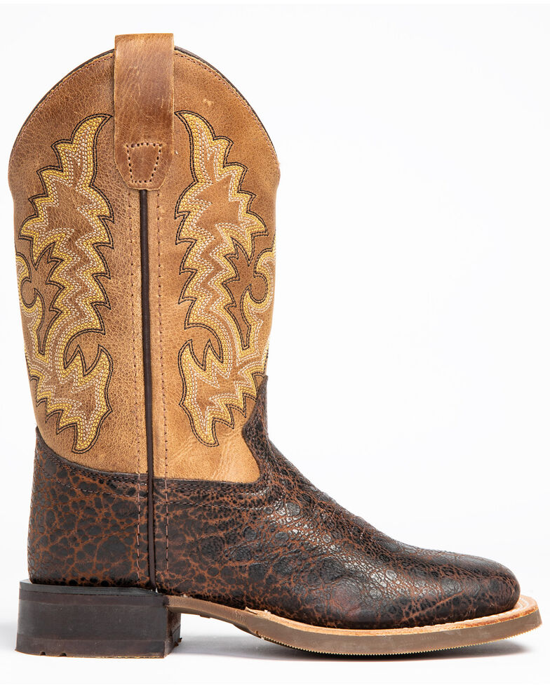 Cody James Youth Boys' Full-Grain Leather Western Boots - Square Toe, , hi-res