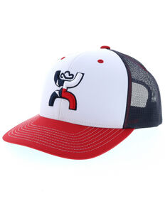 HOOey Men's Texican Trucker Cap, White, hi-res