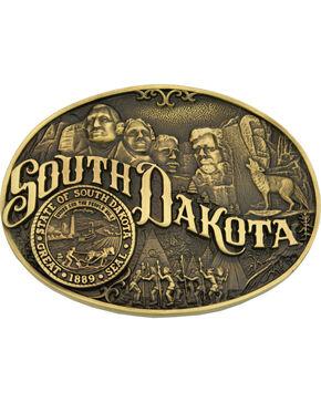 Montana Silversmiths South Dakota Belt Buckle, Gold, hi-res