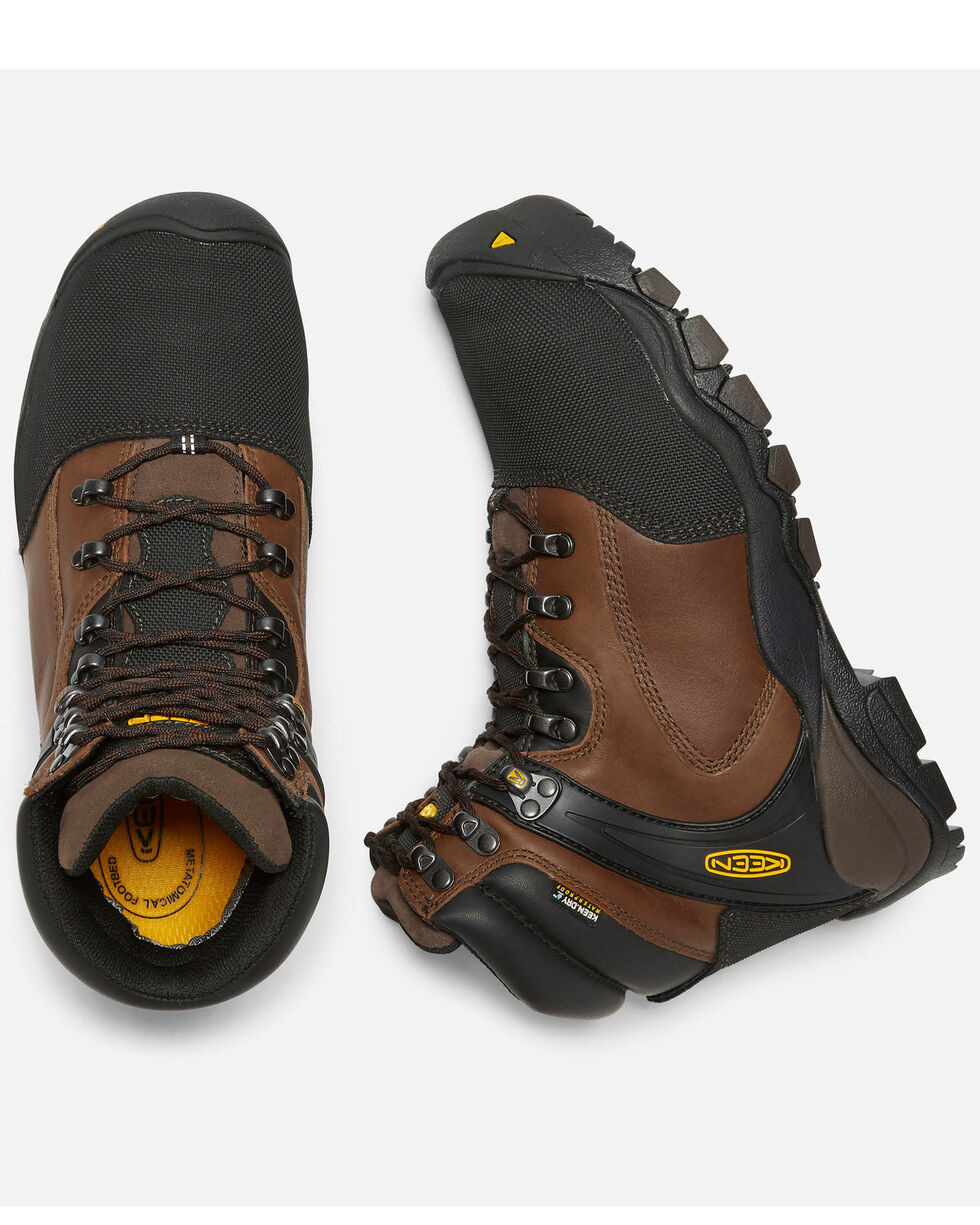 Keen Men's Louisville Met Guard Work Boots - Steel Toe, Brown, hi-res