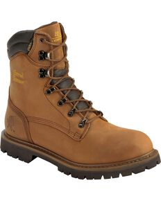 Chippewa Men's Heavy Duty Steel Toe Work Boots, Bark, hi-res